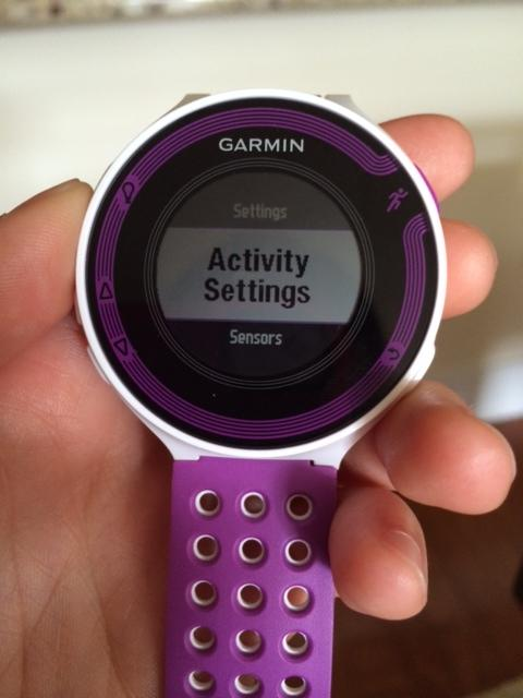 how to set time on my garmin